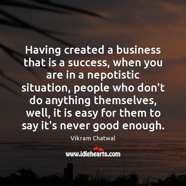 Having created a business that is a success, when you are in Image