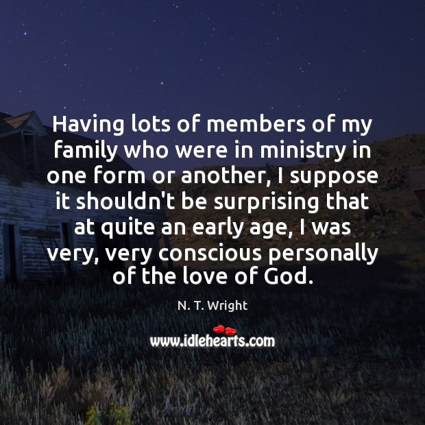 Image, Having lots of members of my family who were in ministry in