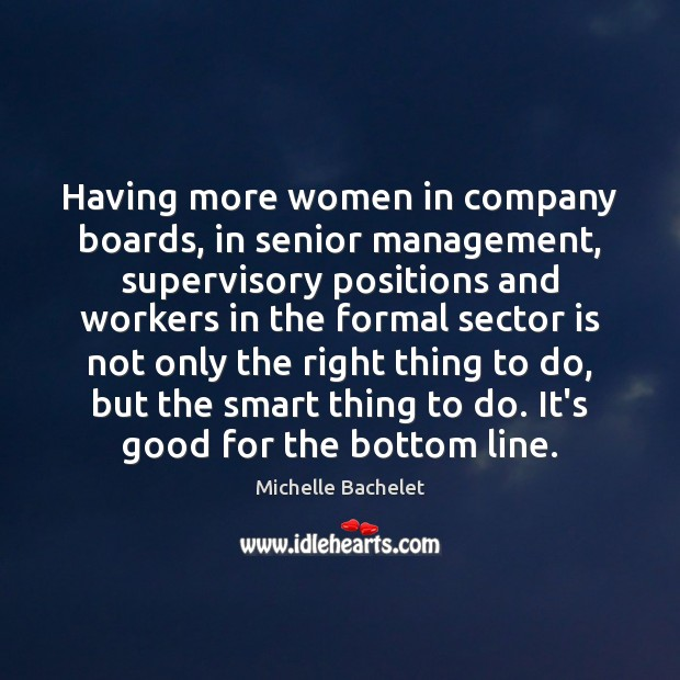 Having more women in company boards, in senior management, supervisory positions and Image