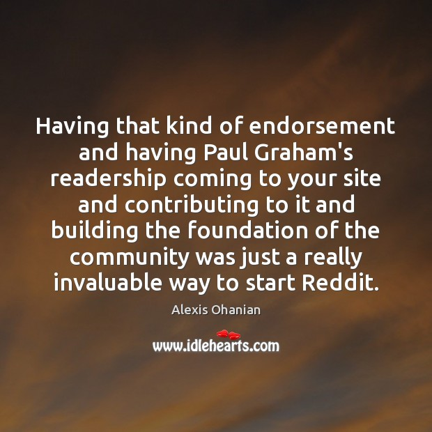 Image, Having that kind of endorsement and having Paul Graham's readership coming to