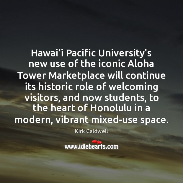 Image, Hawai'i Pacific University's new use of the iconic Aloha Tower Marketplace