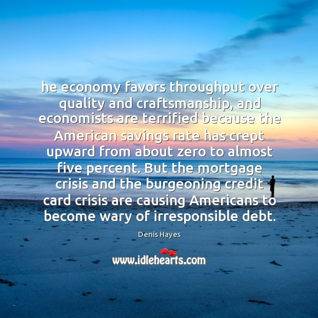 Image, He economy favors throughput over quality and craftsmanship, and economists are terrified