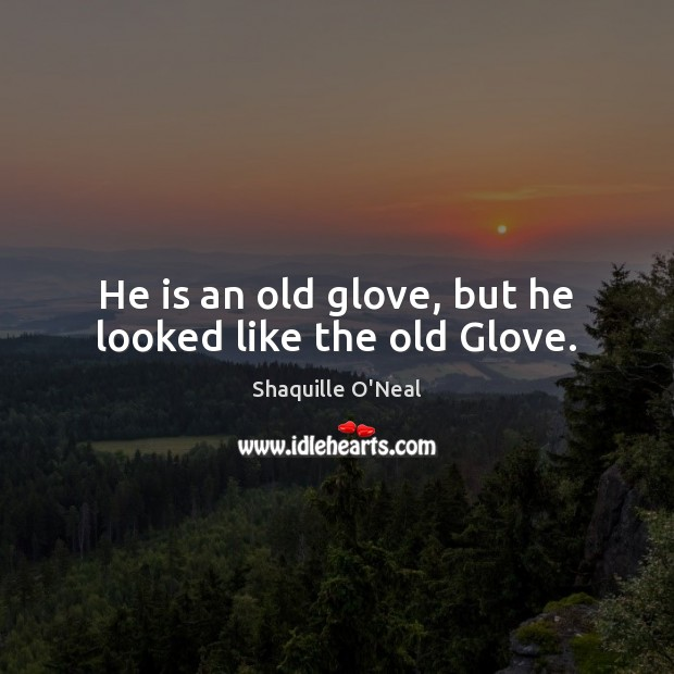 Image, He is an old glove, but he looked like the old Glove.