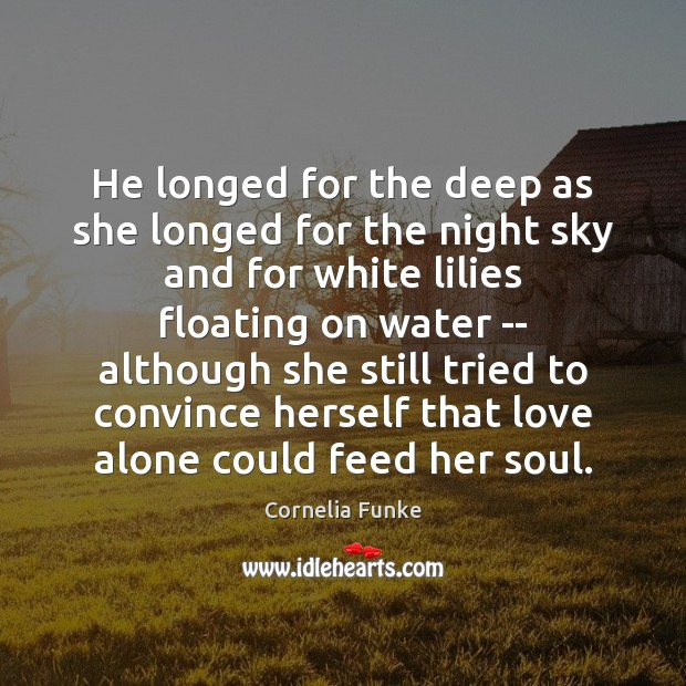 Image, He longed for the deep as she longed for the night sky