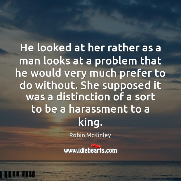 He looked at her rather as a man looks at a problem Image