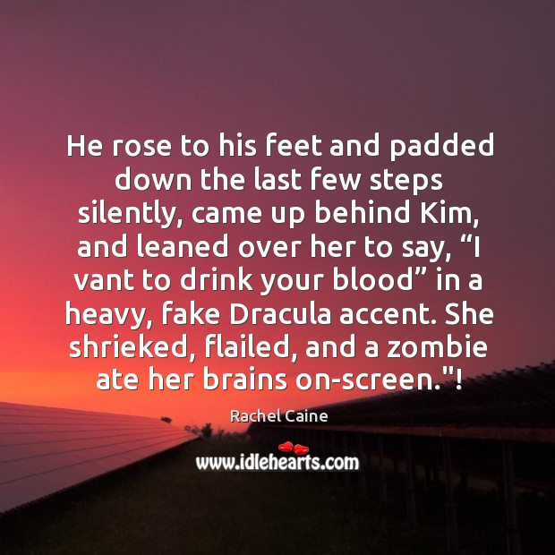 He rose to his feet and padded down the last few steps Image