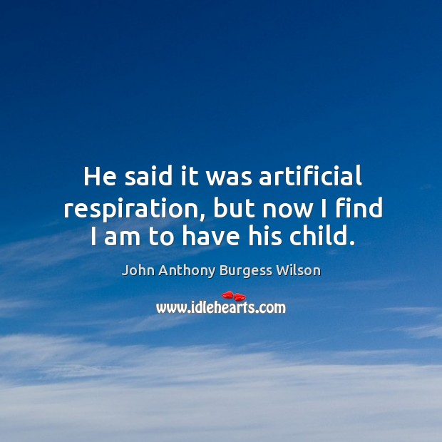 Image, He said it was artificial respiration, but now I find I am to have his child.