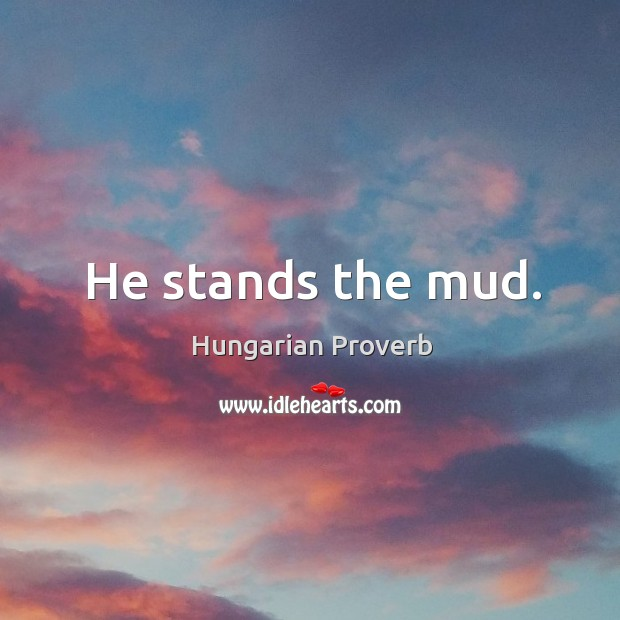 He stands the mud. Image