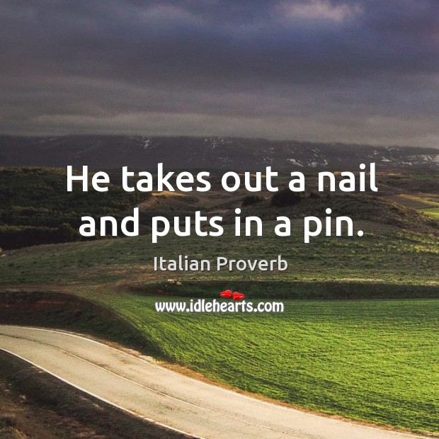 Image, He takes out a nail and puts in a pin.