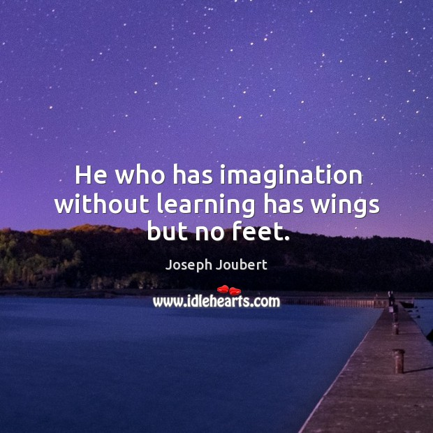 He who has imagination without learning has wings but no feet. Image