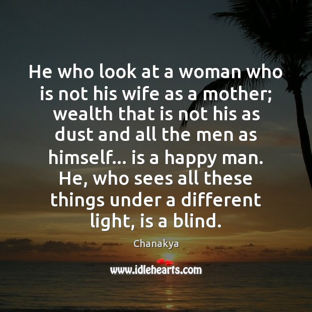 He who look at a woman who is not his wife as Image