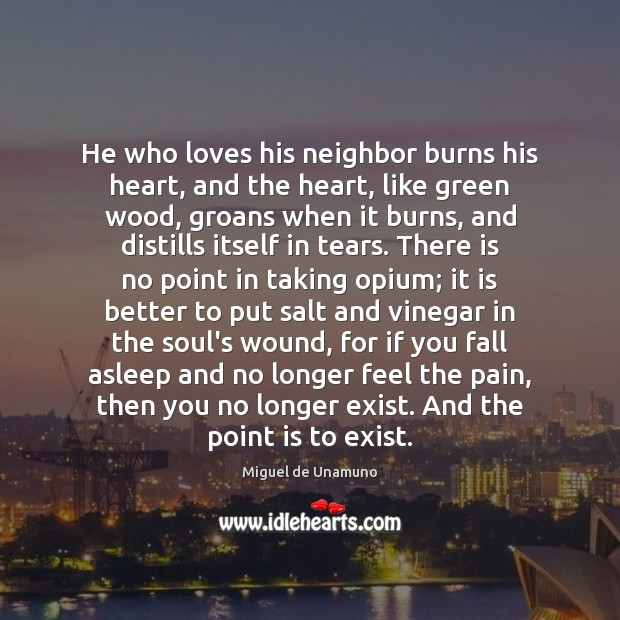 Image, He who loves his neighbor burns his heart, and the heart, like