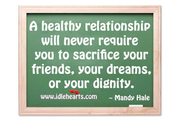 A healthy relationship Mandy Hale Picture Quote