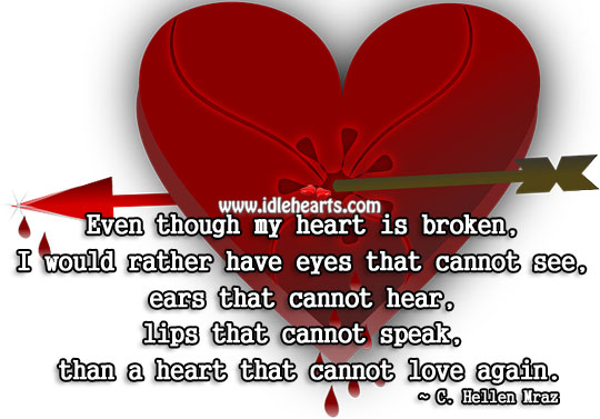 Even Though My Heart Is Broken