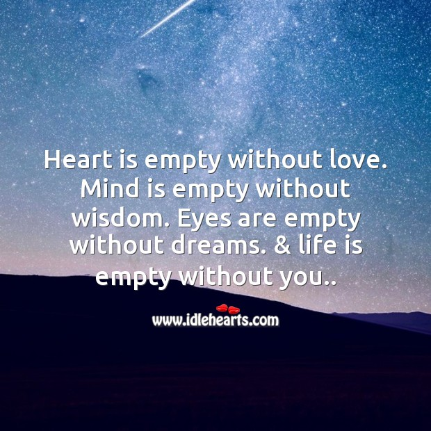 Heart is empty without love. Image