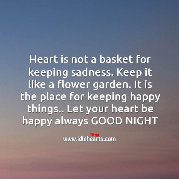 Image, Heart is not a basket