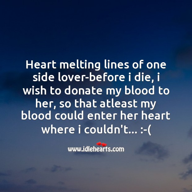Heart melting lines Love Messages Image