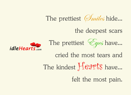 The prettiest smiles hide the deepest scars…