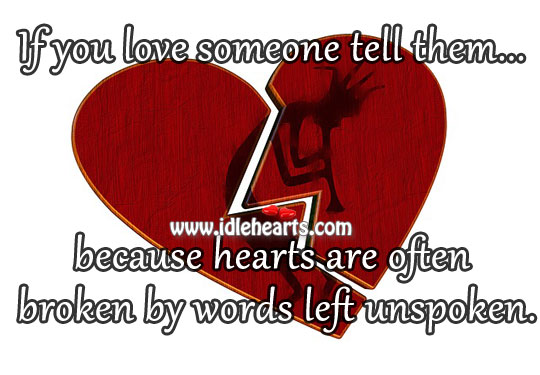 Hearts Are Often Broken By Words
