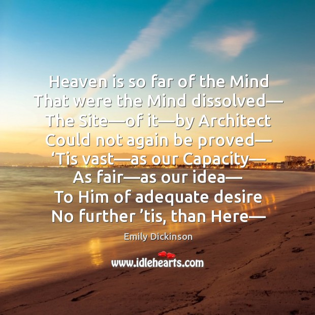 Heaven is so far of the mind Image