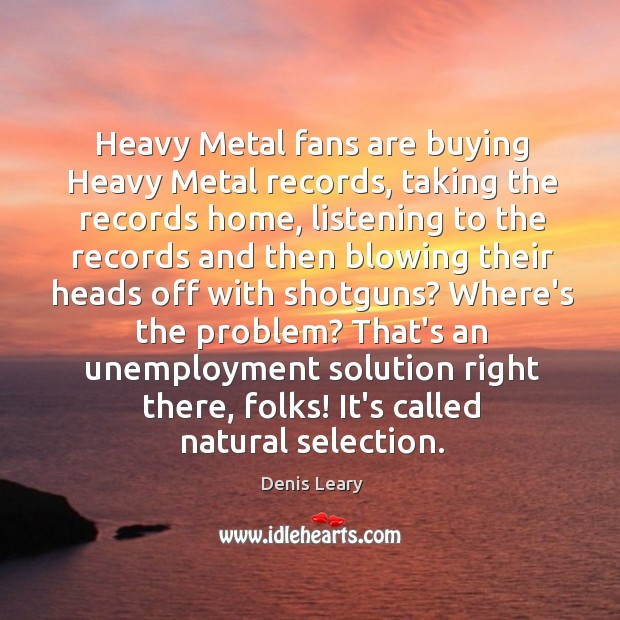 Heavy Metal fans are buying Heavy Metal records, taking the records home, Image