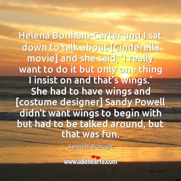 Image, Helena Bonham-Carter and I sat down to talk about [Cinderella movie] and