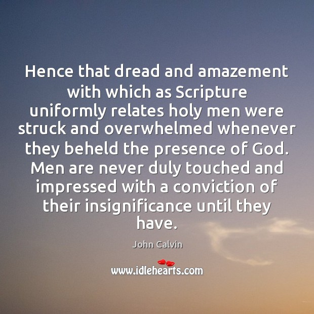 Image, Hence that dread and amazement with which as Scripture uniformly relates holy