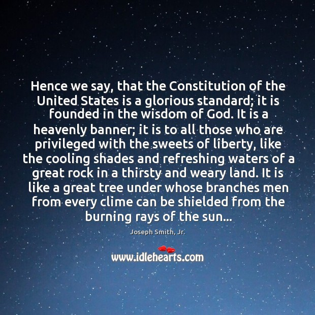 Hence we say, that the Constitution of the United States is a Image