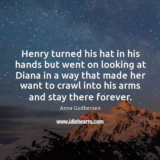 Image, Henry turned his hat in his hands but went on looking at