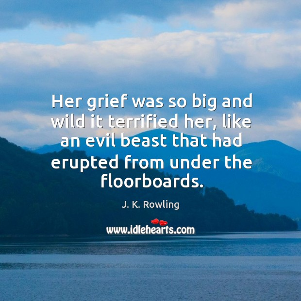 Her grief was so big and wild it terrified her, like an Image