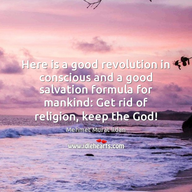 Here is a good revolution in conscious and a good salvation formula Mehmet Murat Ildan Picture Quote