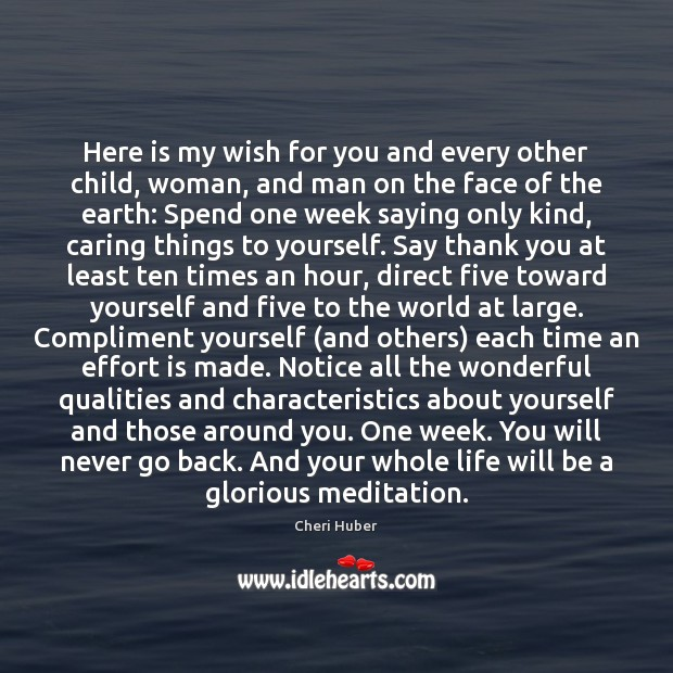 Here is my wish for you and every other child, woman, and Image