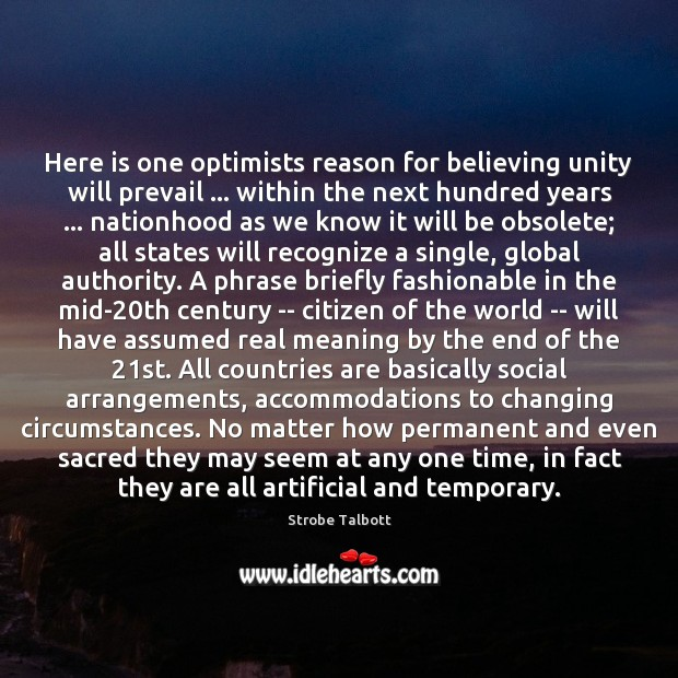 Image, Here is one optimists reason for believing unity will prevail … within the