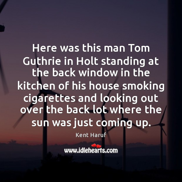 Here was this man Tom Guthrie in Holt standing at the back Image