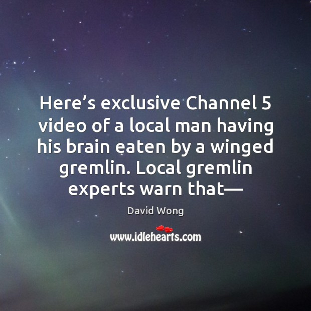 Image, Here's exclusive Channel 5 video of a local man having his brain
