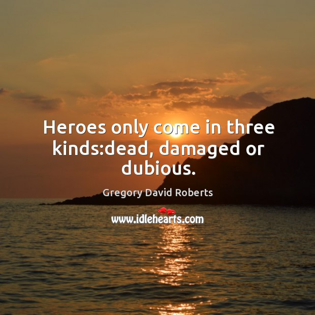 Image, Heroes only come in three kinds:dead, damaged or dubious.