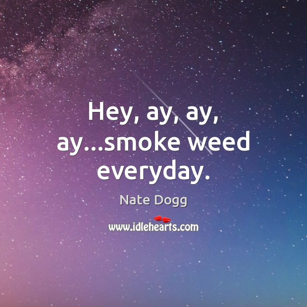 Hey, ay, ay, ay…smoke weed everyday. Image