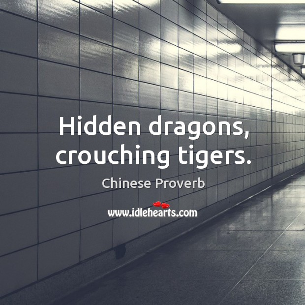 Image, Hidden dragons, crouching tigers.