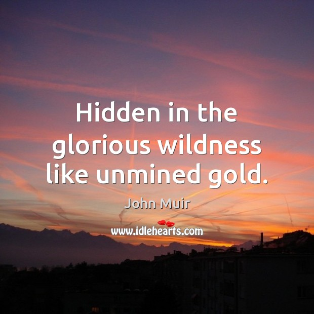 Image, Hidden in the glorious wildness like unmined gold.