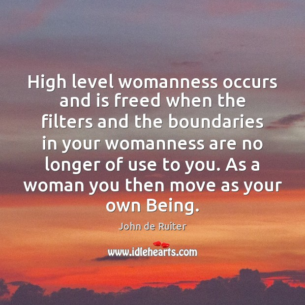 Image, High level womanness occurs and is freed when the filters and the