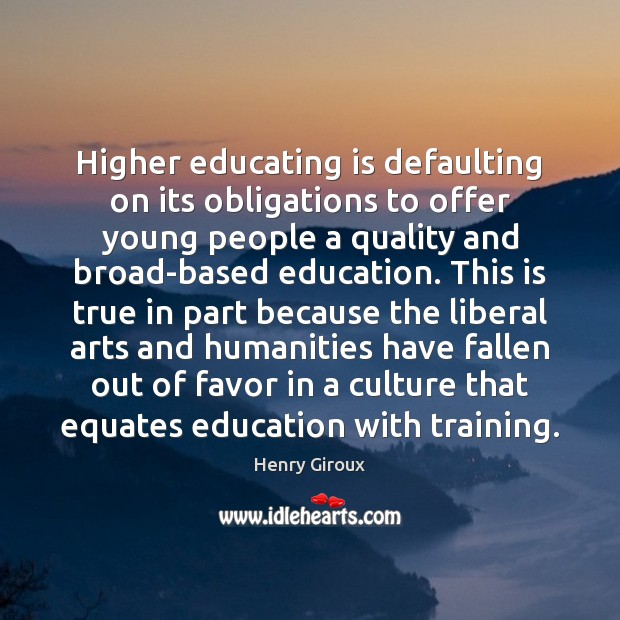 Higher educating is defaulting on its obligations to offer young people a Image