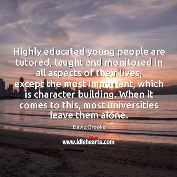 Highly educated young people are tutored, taught and monitored in all aspects of their lives Image