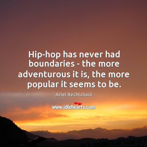 Image, Hip-hop has never had boundaries – the more adventurous it is, the