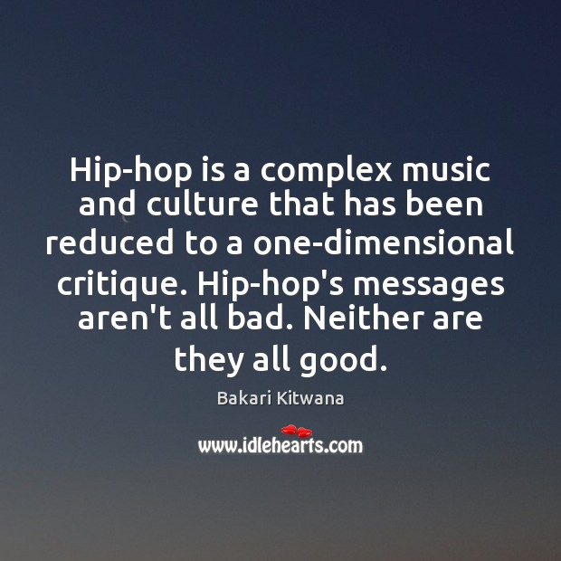 Image, Hip-hop is a complex music and culture that has been reduced to