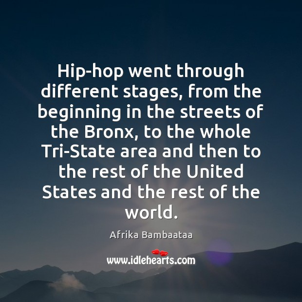 Image, Hip-hop went through different stages, from the beginning in the streets of