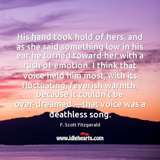 Image, His hand took hold of hers, and as she said something low