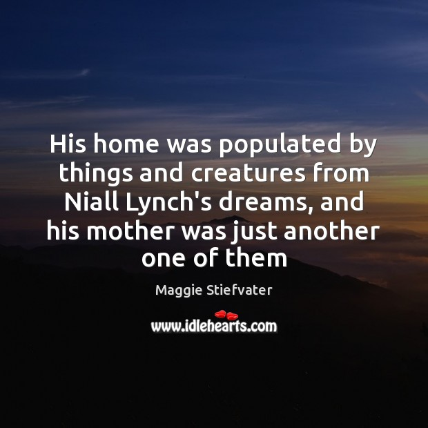 His home was populated by things and creatures from Niall Lynch's dreams, Image