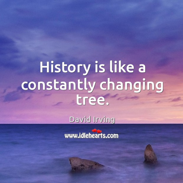 Image, History is like a constantly changing tree.