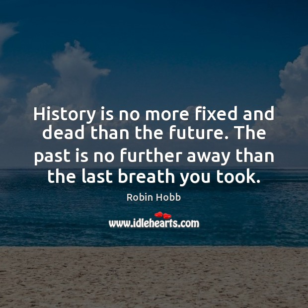 History is no more fixed and dead than the future. The past Robin Hobb Picture Quote