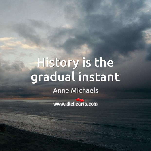 Image, History is the gradual instant